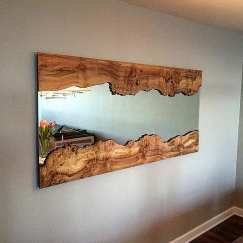 آینه دیواری روستیک