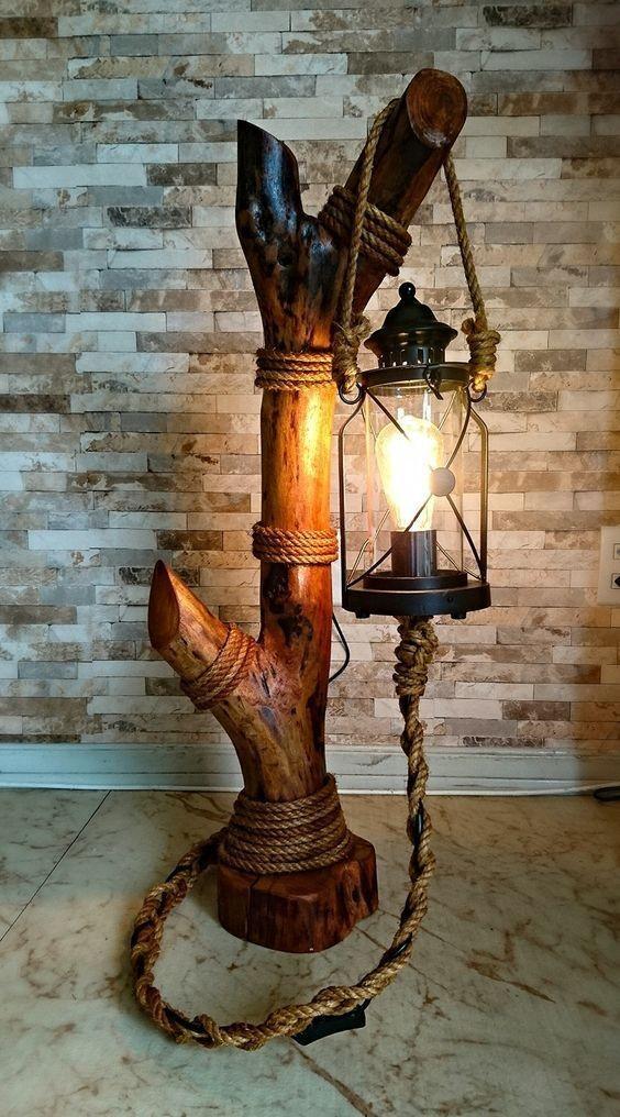 فانوس(آباژور)چوبی